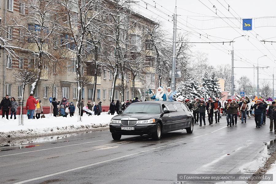 Вцентре Липецке прошел парад дедушка Морозов