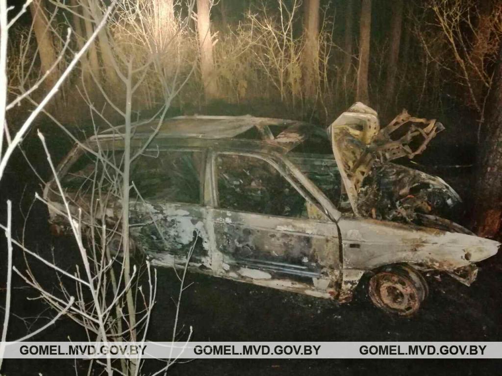 В Ветковском районе загорелось попавшее в ДТП авто — два человека погибли